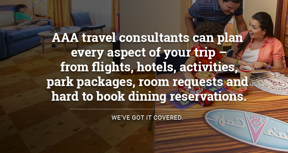 AAA travel consultants can plan every aspect of your trip